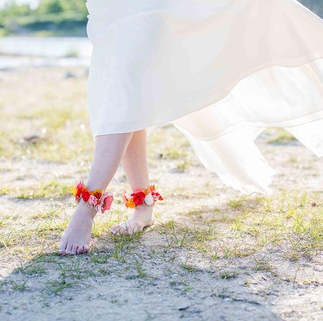 Bracelets cheville 6 Alice Marty - Couture florale Accessoires Mariage