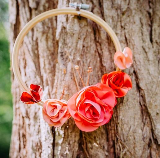 Cercle fleuri 3 Alice Marty - Couture florale Accessoires Mariage