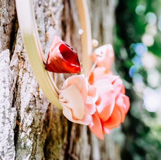 Cercle fleuri 4 Alice Marty - Couture florale Accessoires Mariage