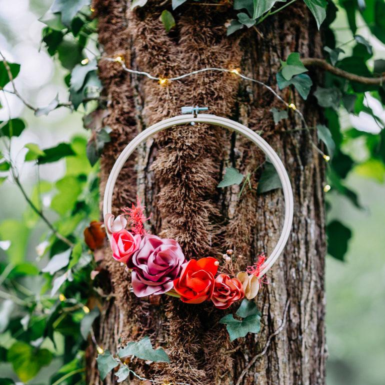 Cercle fleuri 5 Alice Marty - Couture florale Accessoires Mariage