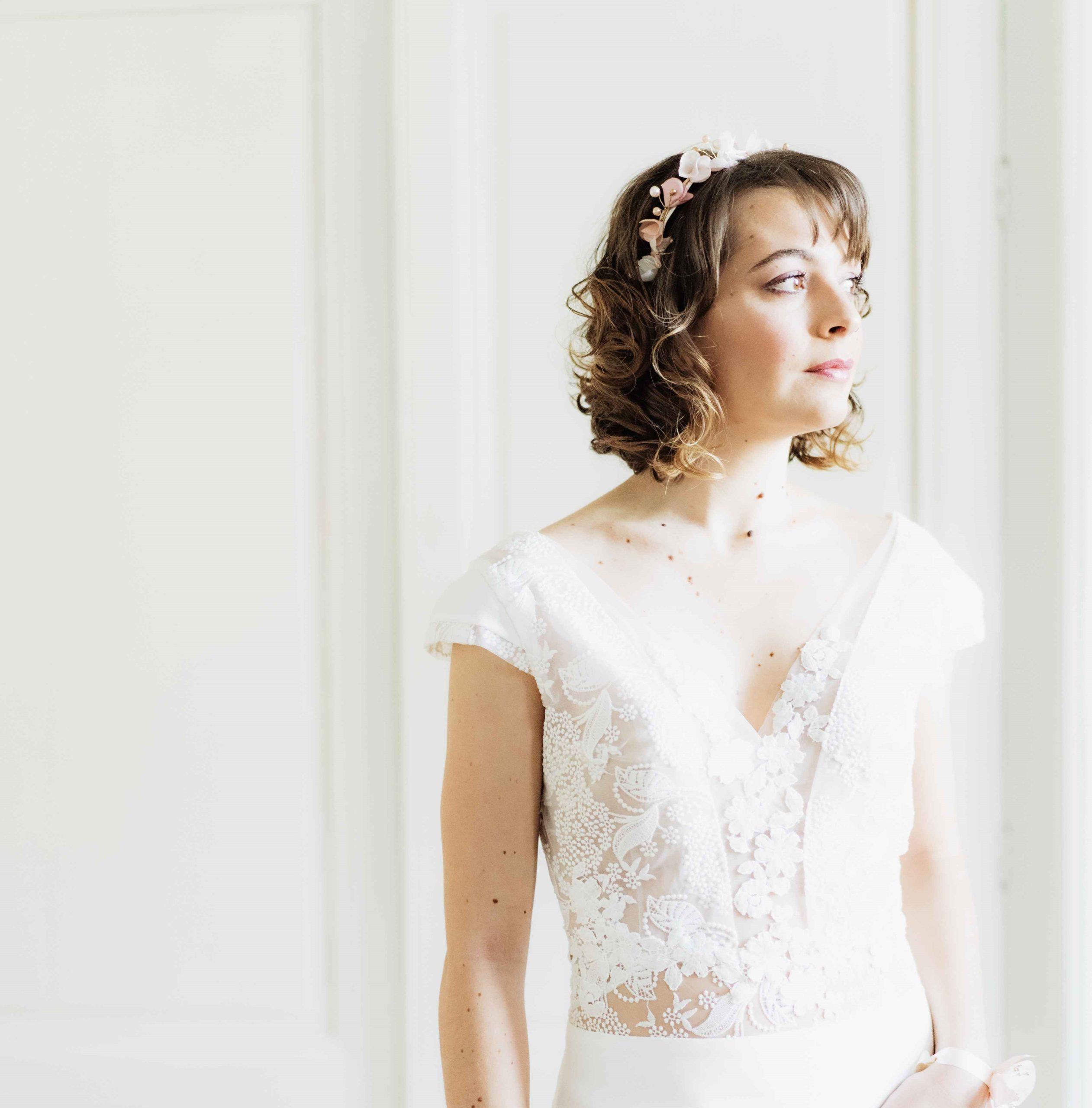 Couronne Bertille 2 Alice Marty - Couture florale Accessoires Mariage