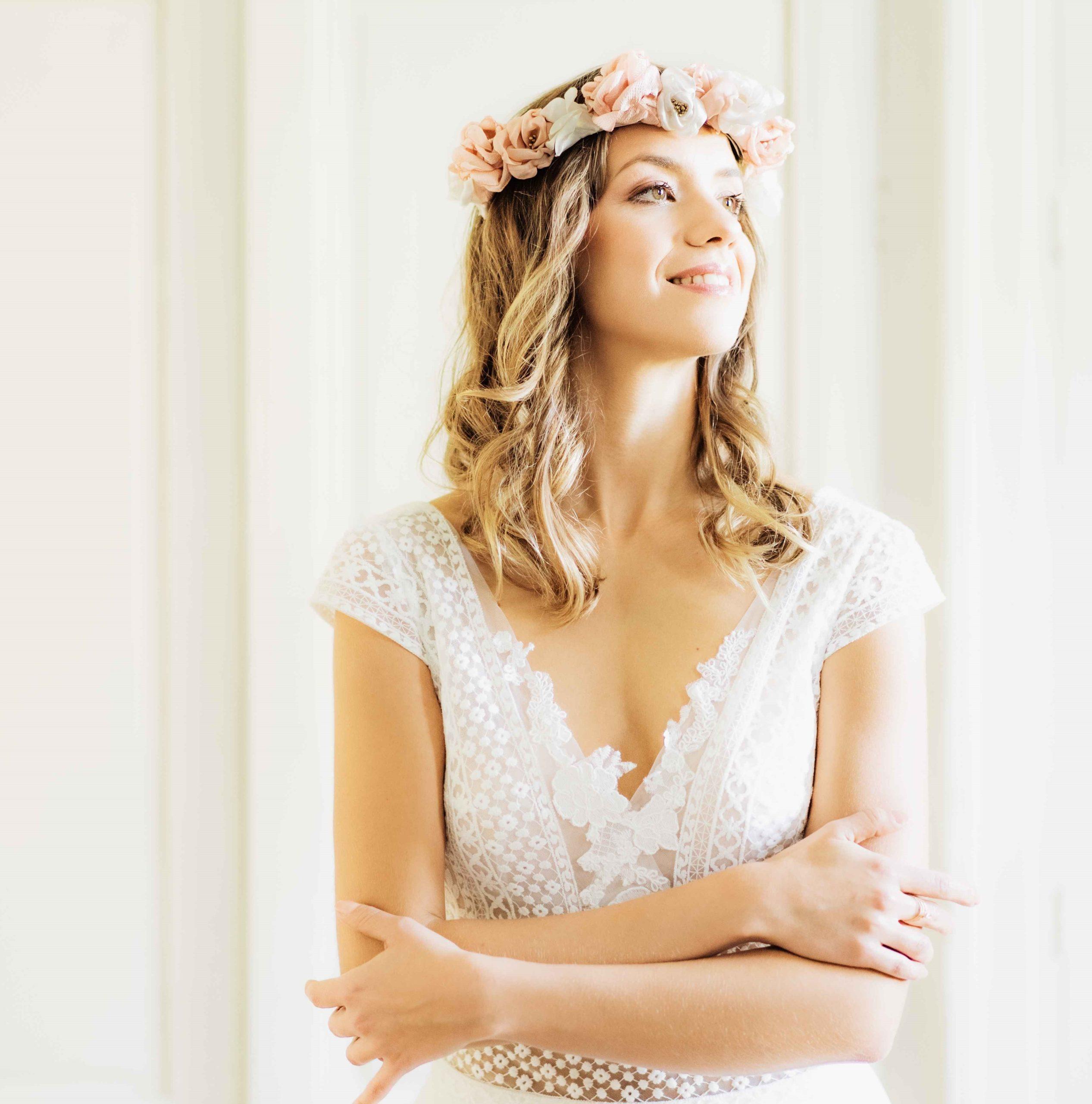 Couronne Elisabeth 2 Alice Marty - Couture florale Accessoires Mariage
