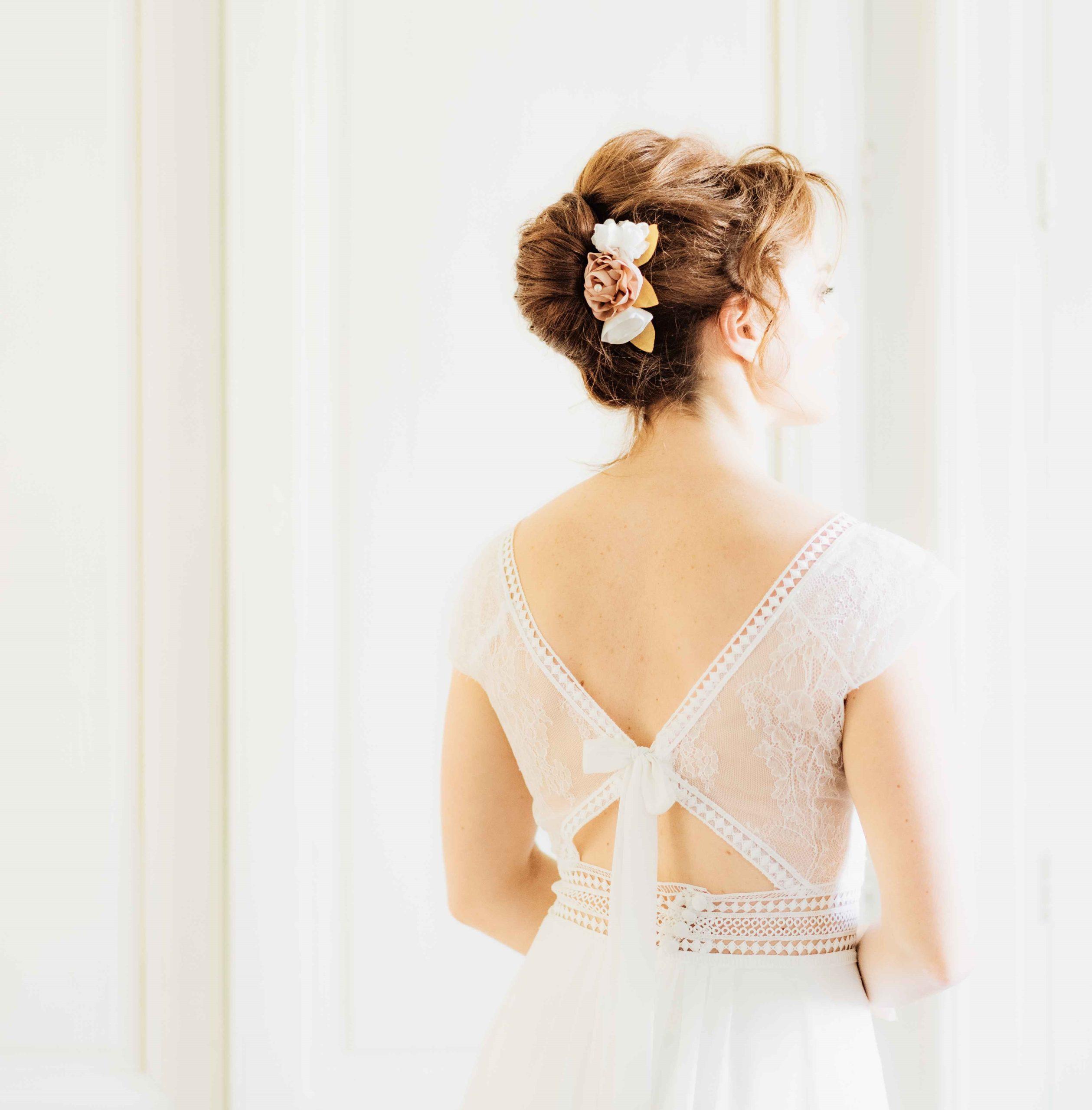 Peigne Apolline 3 Alice Marty - Couture florale Accessoires Mariage