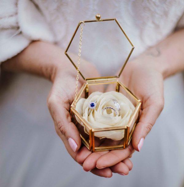 Porte alliances 2 Alice Marty - Couture florale Accessoires Mariage