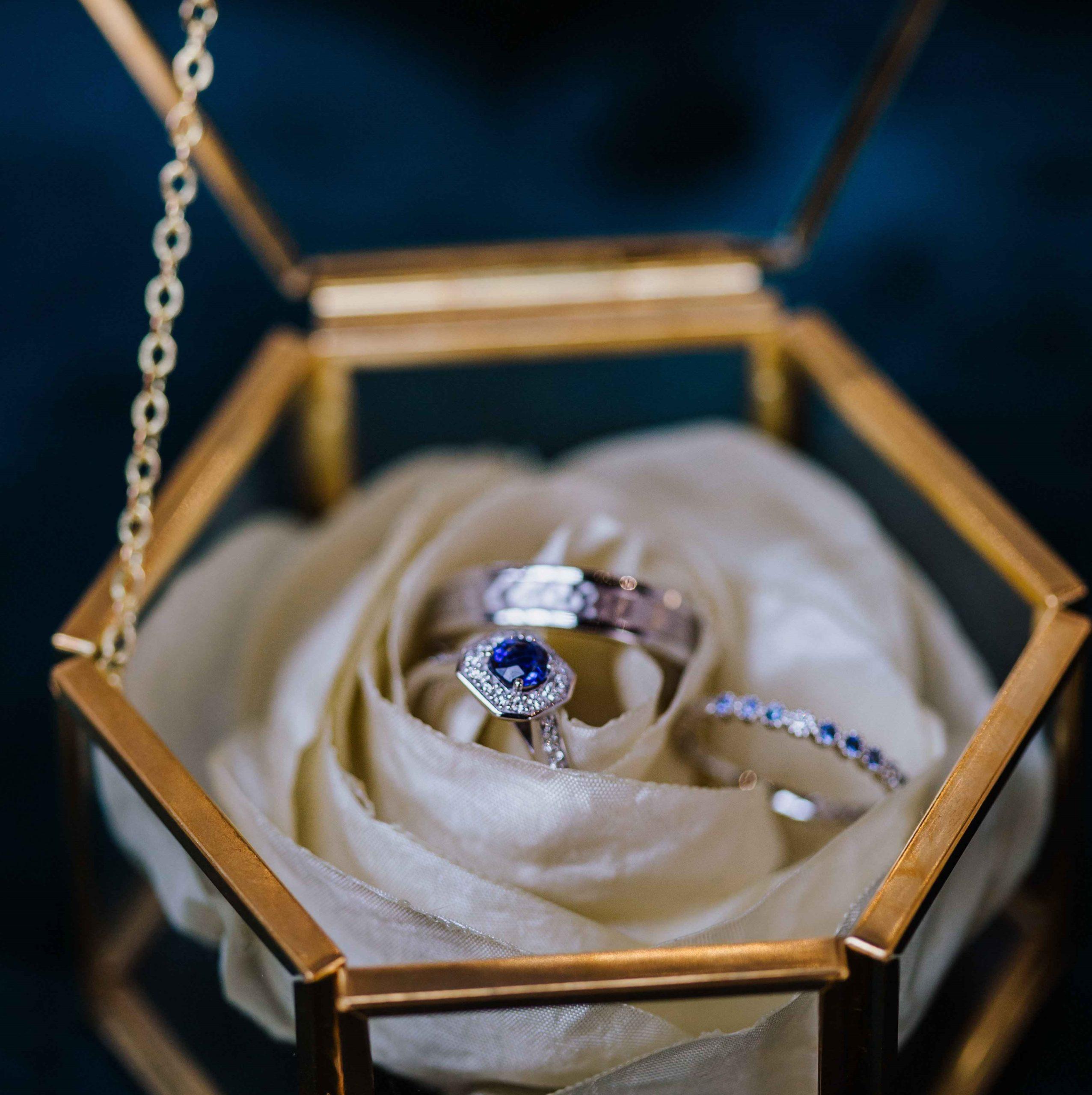 Porte alliances 3 Alice Marty - Couture florale Accessoires Mariage