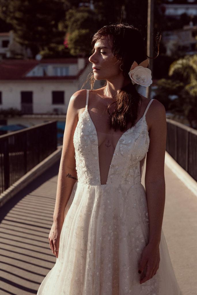 Epingle à cheveux rose géante Alice MARTY Couture Florale Accessoires mariage et jolis jours
