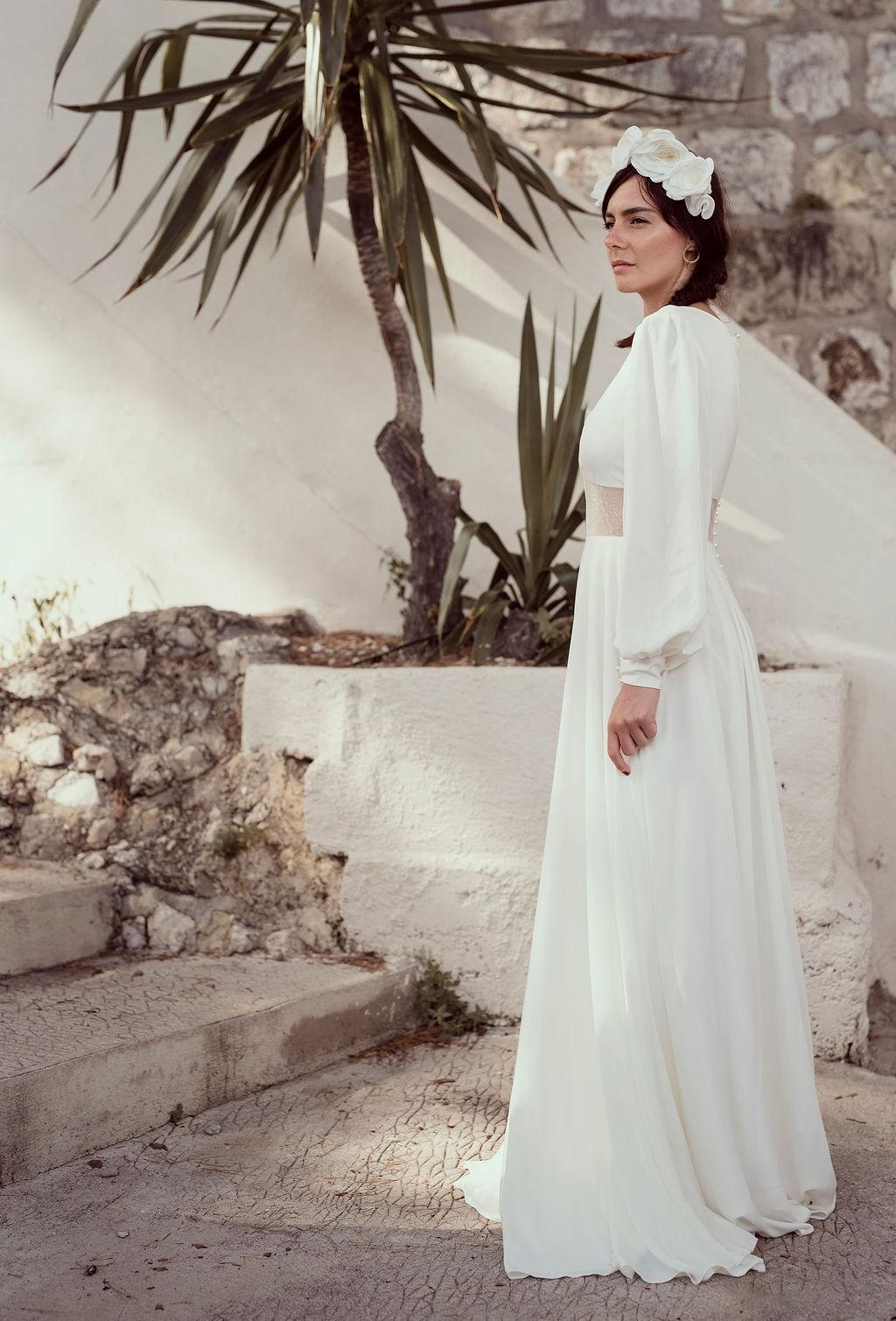 Couronne mariée en fleurs textiles Alice MARTY Couture Florale Accessoires mariage et jolis jours