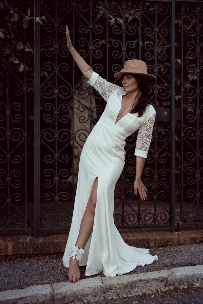 Bracelet de cheville fleurs textiles Alice MARTY Couture Florale Accessoires mariage et jolis jours