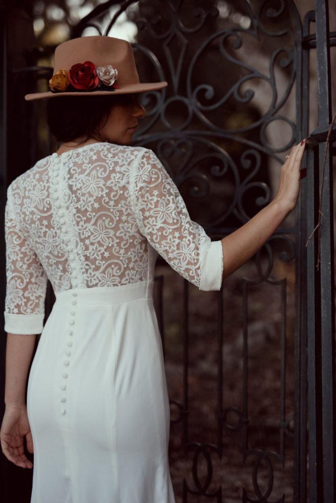Chapeau fleuri mariée fleurs en tissu Alice MARTY Couture Florale Accessoires mariage et jolis jours