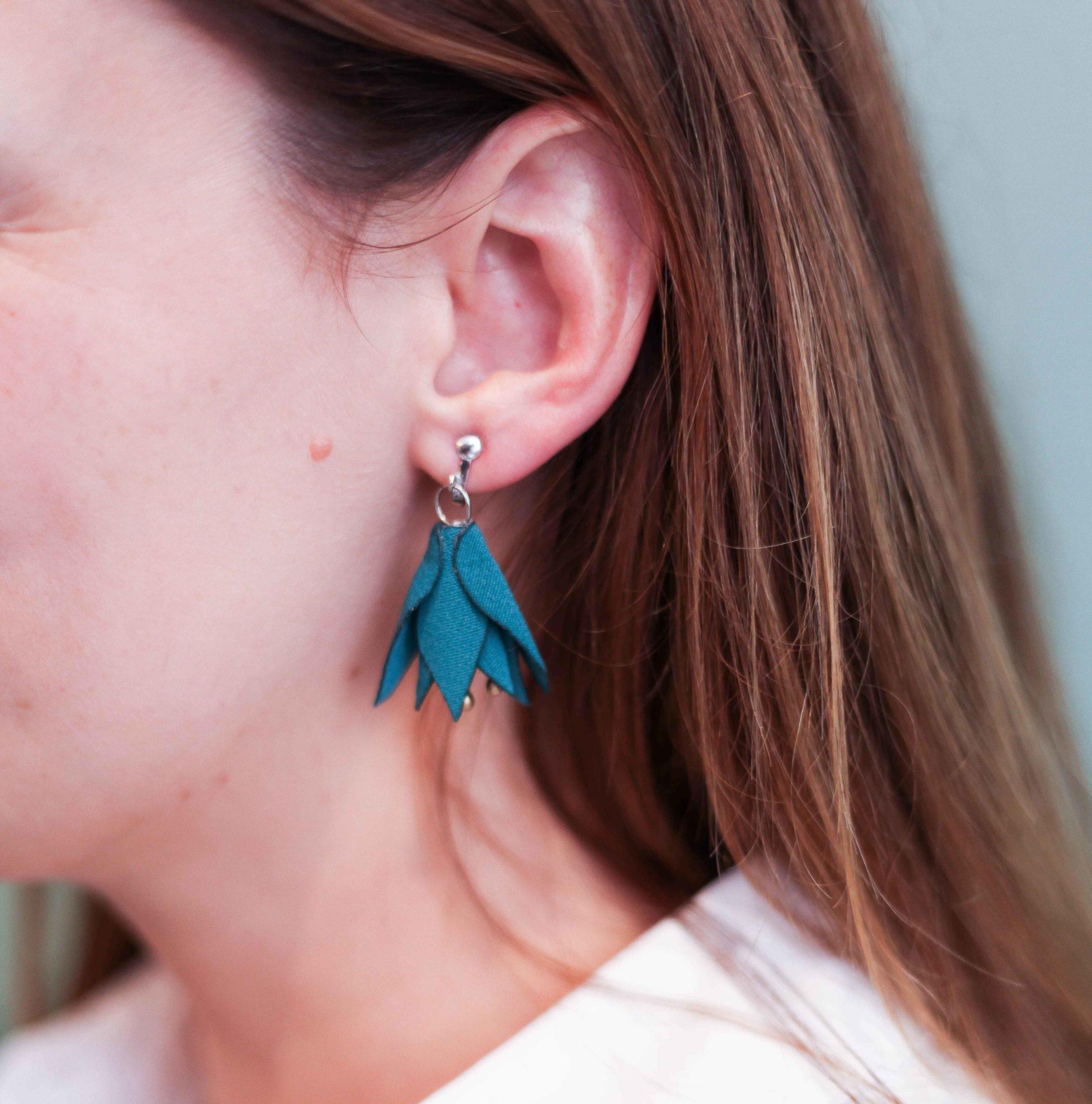 Boucles d'oreilles Amandine Alice Marty Couture florale Créatrice mariage Albi Toulouse