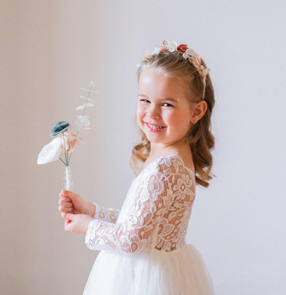 Petit bouquet enfant Collection Glitter Alice Marty - Couture florale Accessoires mariage Albi Toulouse