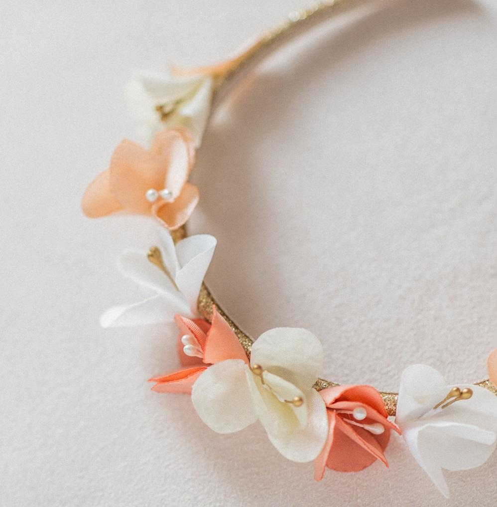 Couronne de fleurs enfant mariage Alice Marty - Couture florale Accessoires mariage Albi Toulouse