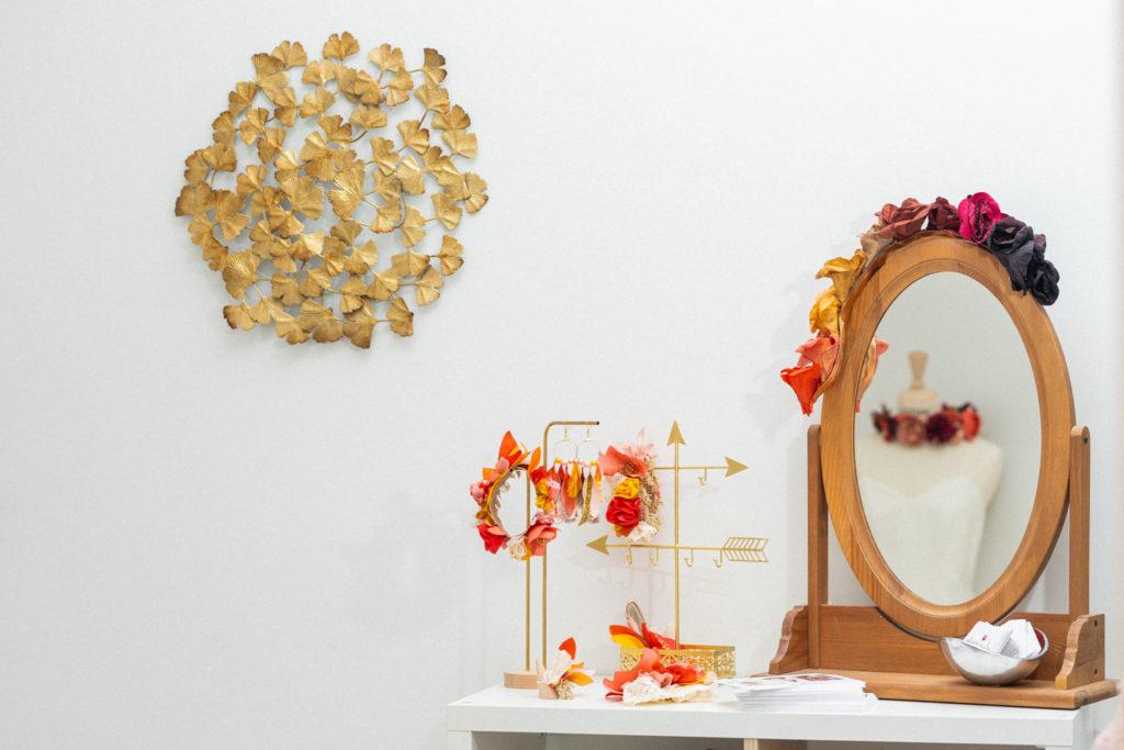 Showroom Alice MARY Créatrice d'accessoires mariage en couture florale Albi Toulouse