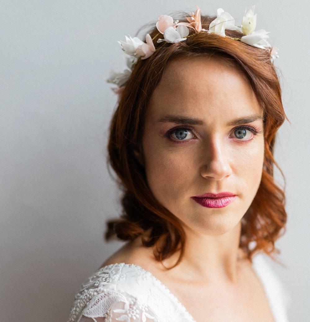 Couronne mariée Héloïse petites fleurs Alice Marty - Couture florale Accessoires mariage Albi Toulouse