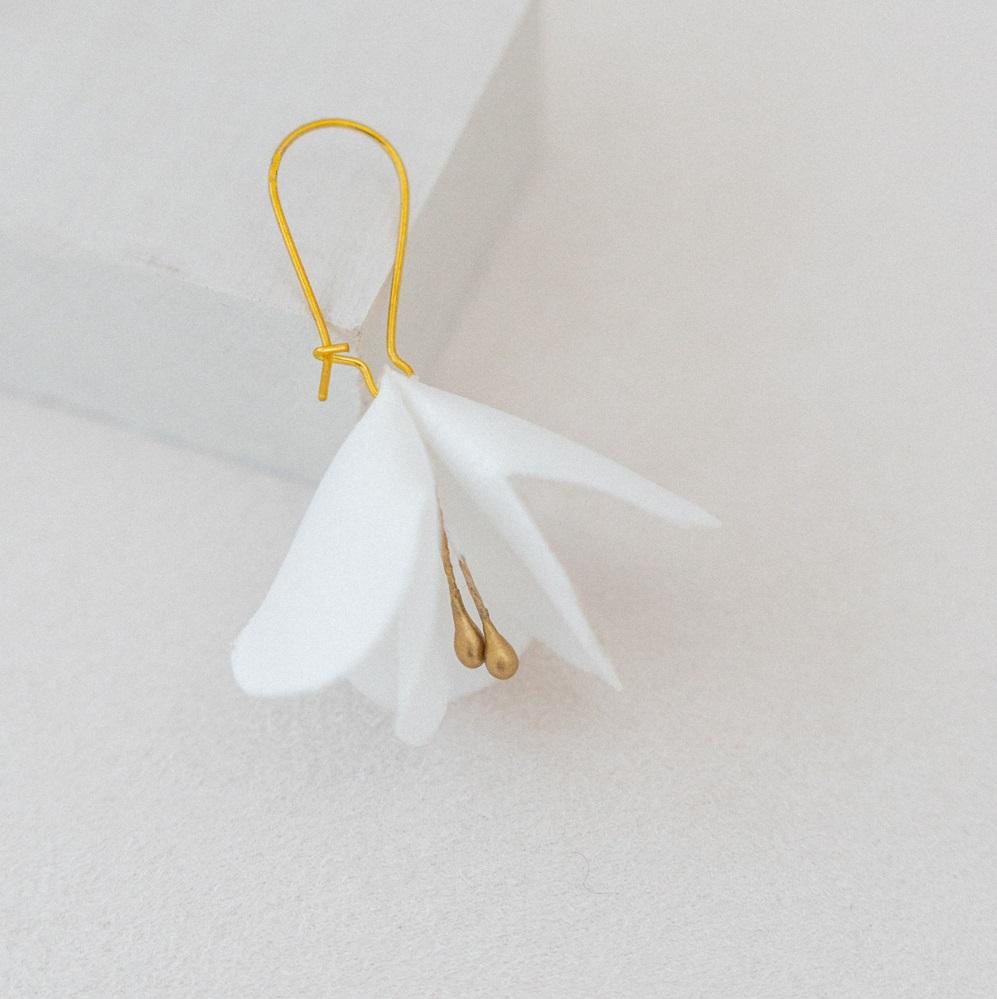Boucles d'oreilles florales Ninon Bijou mariée chic Alice Marty Accessoires mariage Albi Toulouse