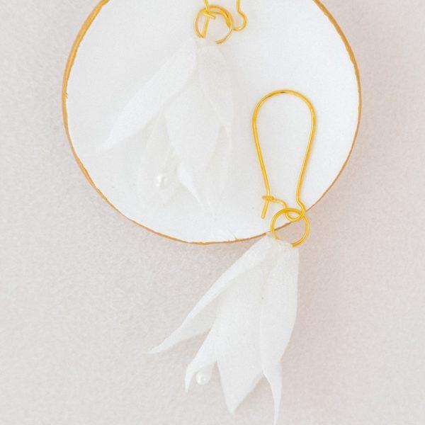 Boucles d'oreilles florales Amandine Bijou mariée chic Alice Marty Accessoires mariage Albi Toulouse