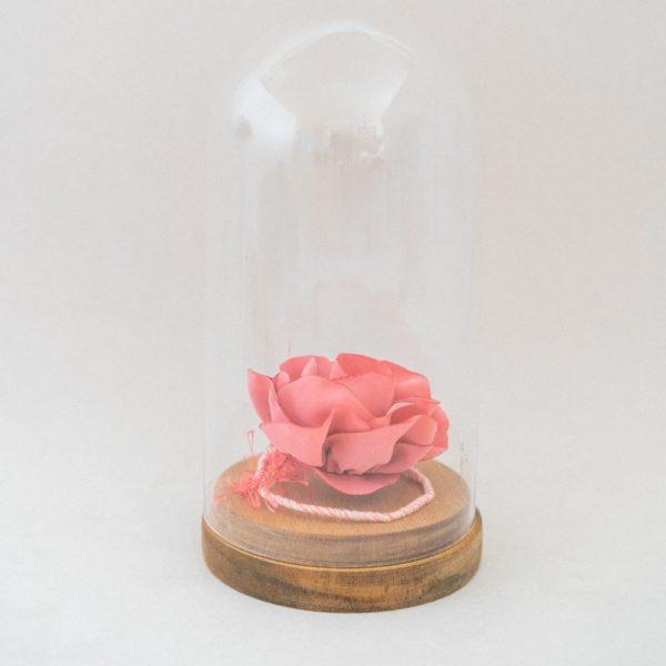 Rose sous cloche Déco Alice Marty Couture florale Créatrice mariage Albi Toulouse