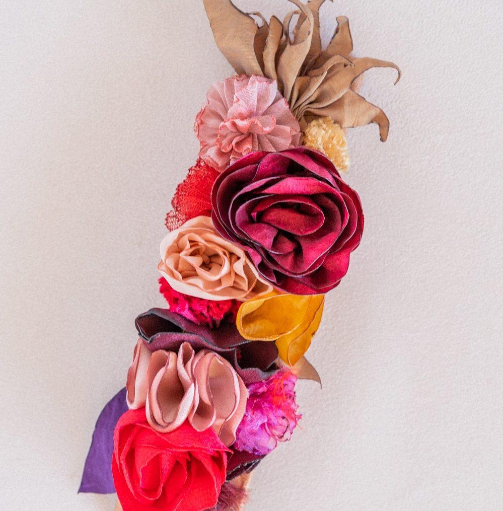 Bracelet floral mariée large Modèle Angèle Alice Marty Accessoires mariage Albi Toulouse Bordeaux