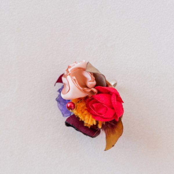 Bague Victoire Taille réglable Alice MARTY Couture florale Albi Toulouse