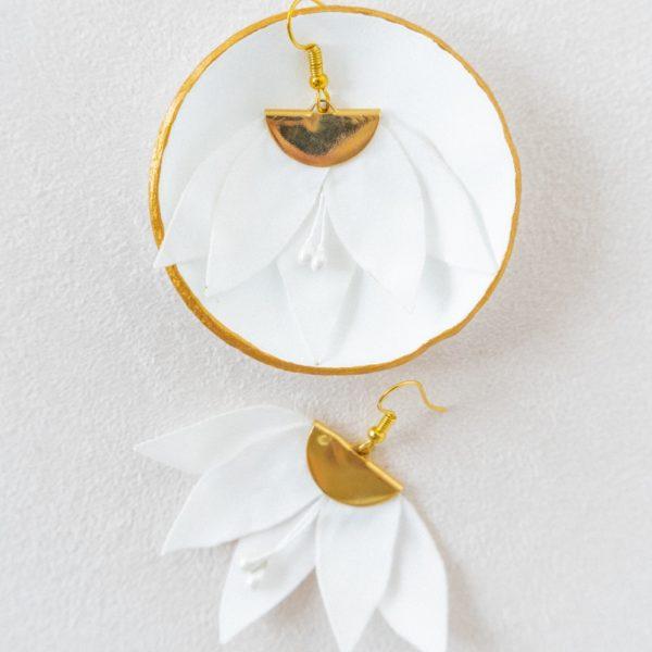 Boucles d'oreilles florales Bijou mariée chic Alice Marty Collection mariage Albi Toulouse