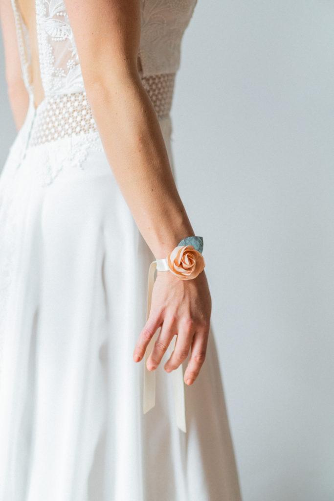 Bracelet Eléonore modèle rose Alice MARTY Accessoires mariée Toulouse Albi Made in France