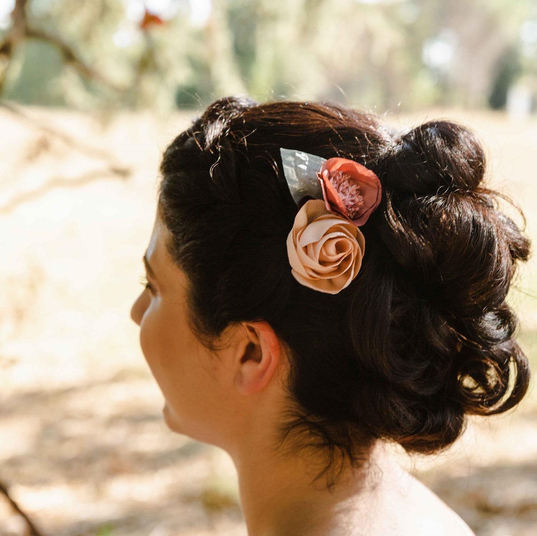 Mini peigne Violette couleurs d'automne Alice MARTY Accessoires mariage Toulouse Albi