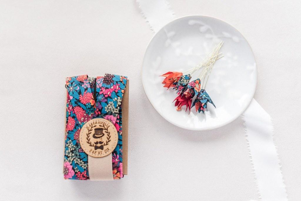 Epingles à chignon petites fleurs Amandine - Alice MARTY Couture florale Collection Liberty