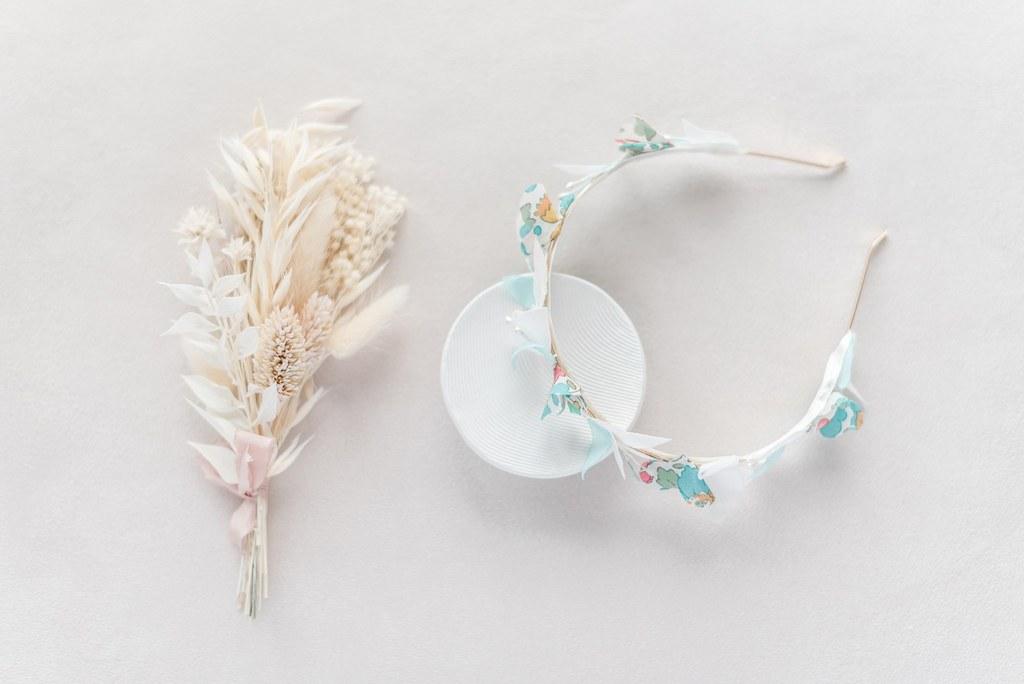Couronne florale fine Bertille - Alice MARTY Couture florale Collection Liberty
