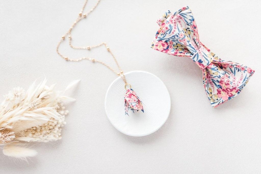 Collier mariée Amandine petites feuilles - Alice MARTY Couture florale Collection Liberty