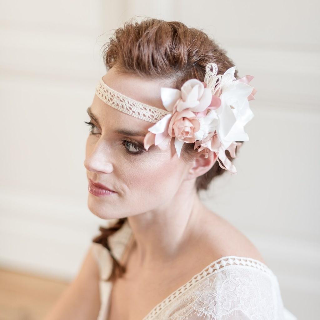 Headband floral mariée Modèle Camille Alice MARTY Couture florale Accessoires mariage Toulouse