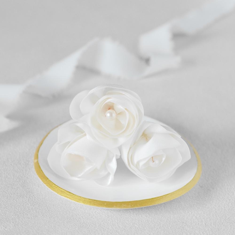 Epingles à chignon Constance petites roses - Alice MARTY Couture florale Collection Liberty