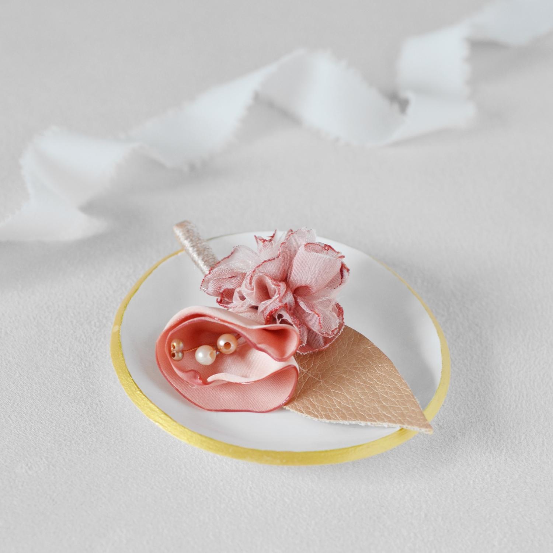 Boutonnière Léon Alice Marty - Couture florale Accessoires Mariage