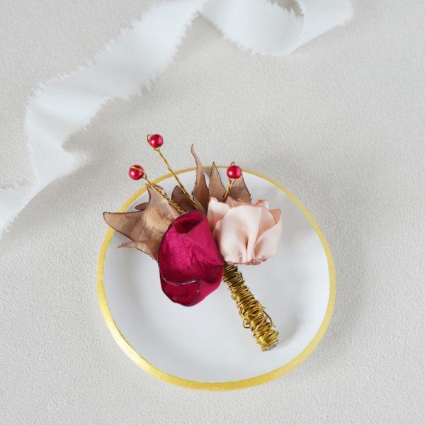 Boutonnière Marcel Alice Marty - Couture florale Accessoires Mariage