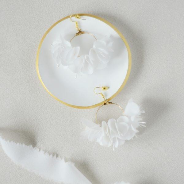 Créoles fleuries Garance Alice MARTY Couture florale Accessoires mariage Toulouse
