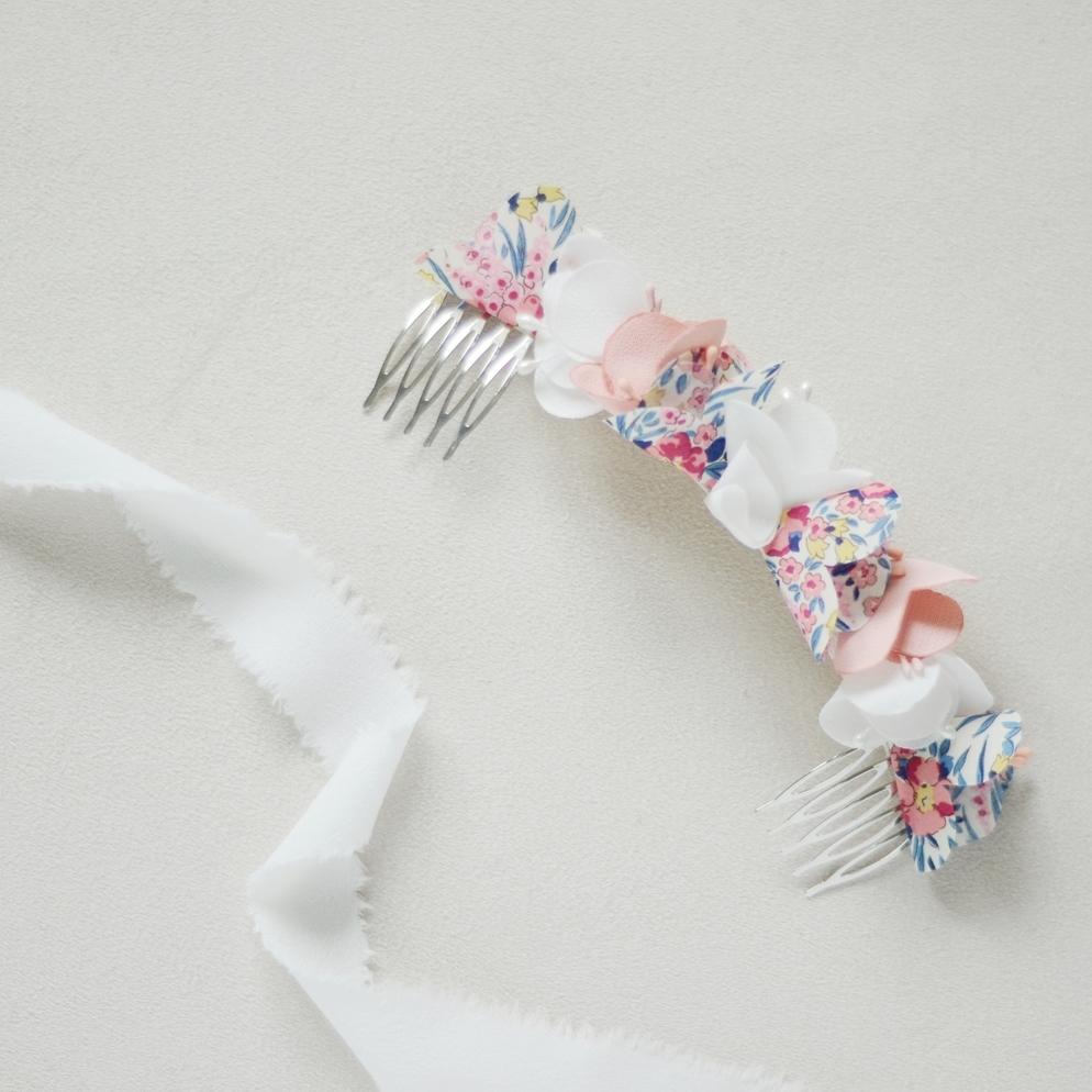 Double peigne Suzanne Collection Liberty Alice MARTY Couture florale Accessoires mariée